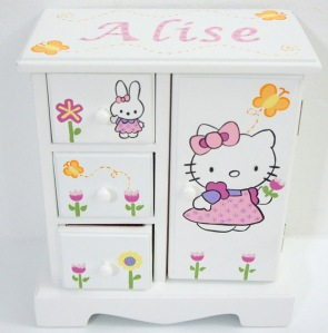 jewelry box for girls hello kitty