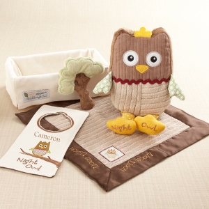 Night Owl baby shower gift set