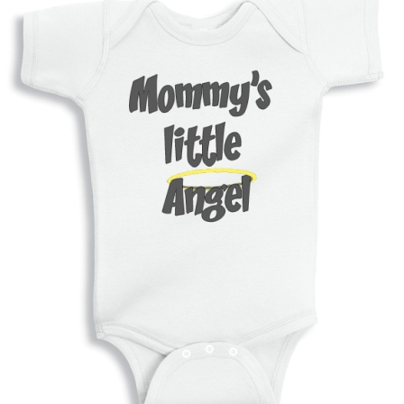 Mommys little angel baby onesie