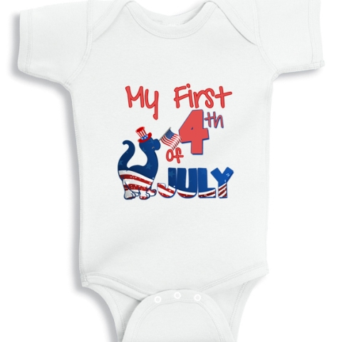 My First 4th of July Dino baby onesie