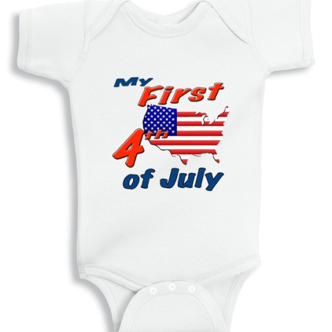 My first 4th of July baby onesie