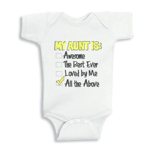 My Aunt is Awesome, the best ever and loved by me baby onesie or Infant T-Shirt